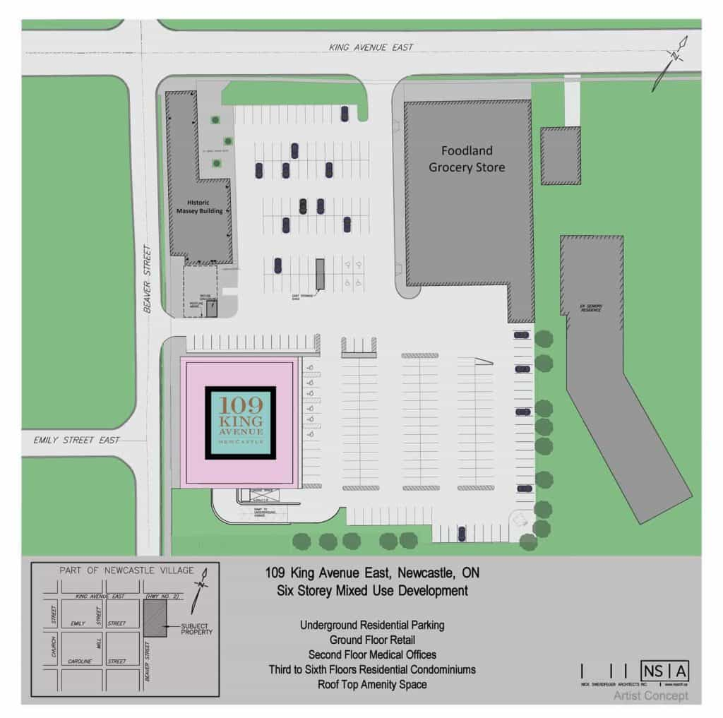 109 King Site Plan Colour Plan